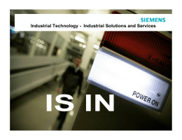 Industrial Technology - Industrial Solutions and Services