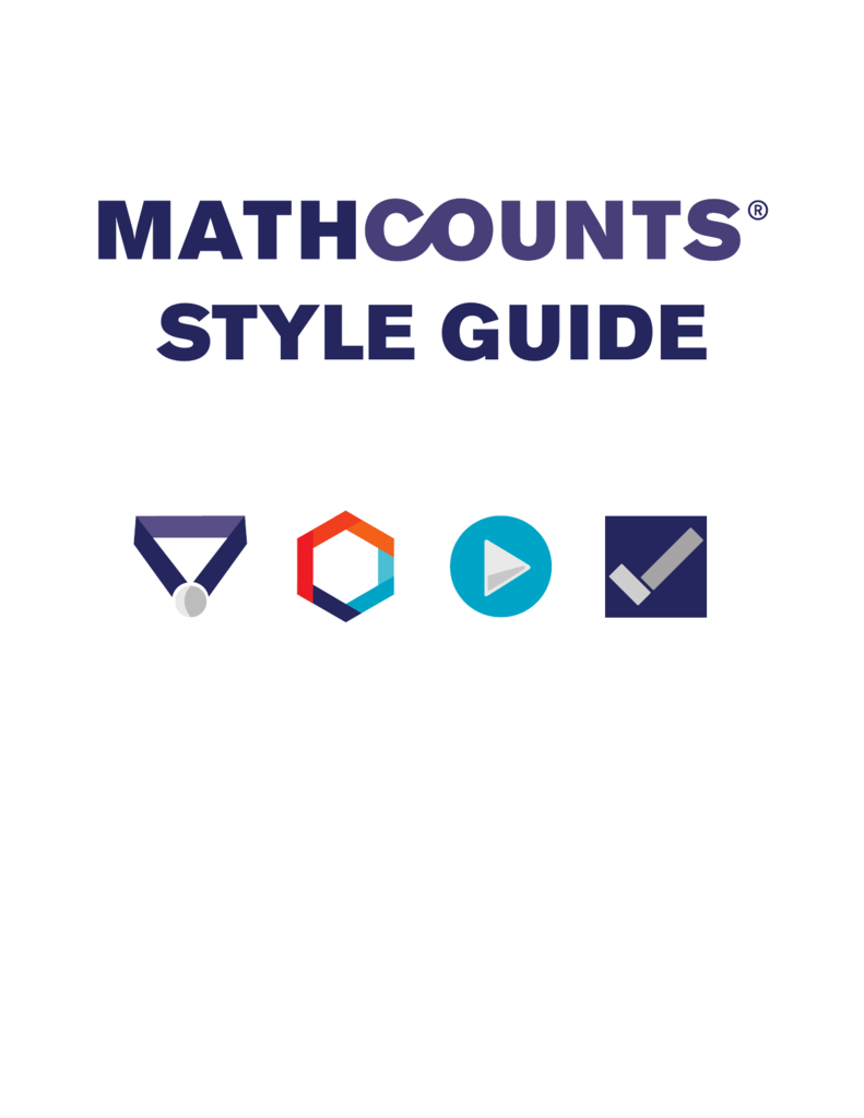 style guide - MathCounts
