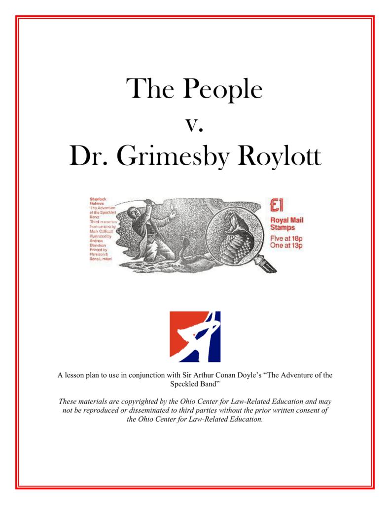 dr grimesby roylott