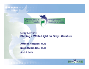 Grey Lit 101: Shining a White Light on Grey Literature
