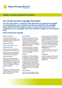 The Cut-Out-and-Keep Copyright Cheat Sheet Media & Creative