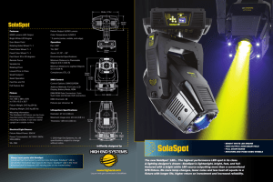 SolaSpot Brochure - High End Systems