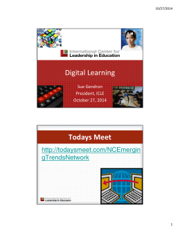 Digital Learning Todays Meet