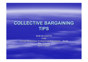 Collective Bargaining Tips