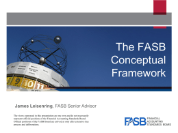 The FASB Conceptual Framework