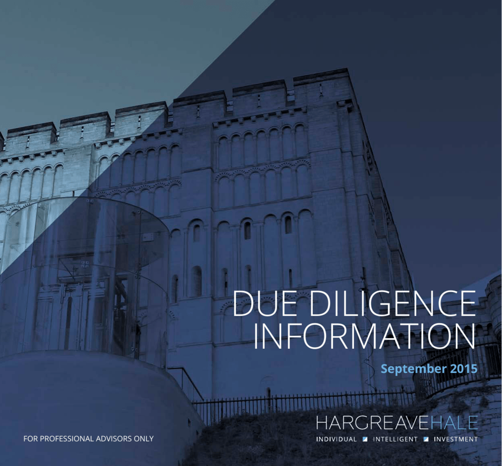 DUE DILIGENCE INFORMATION