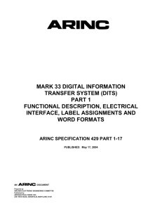 ARINC Specification 429, Part 1