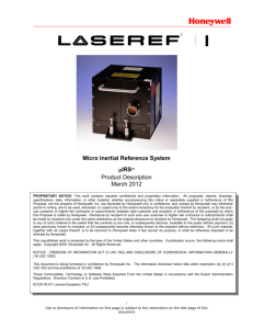 Laseref VI Micro Inertial Reference System