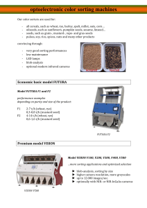 optoelectronic color sorting machines optoelectronic color sorting