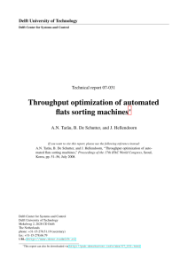 Throughput optimization of automated flats sorting machines