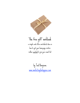 the free gift - marketingforhippies.com