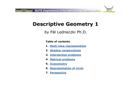 Descriptive Geometry 1