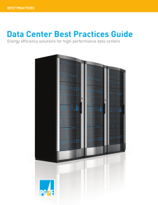Data Center Best Practices Guide - Pacific Gas and Electric Company