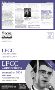 Connections - Lord Fairfax Community College