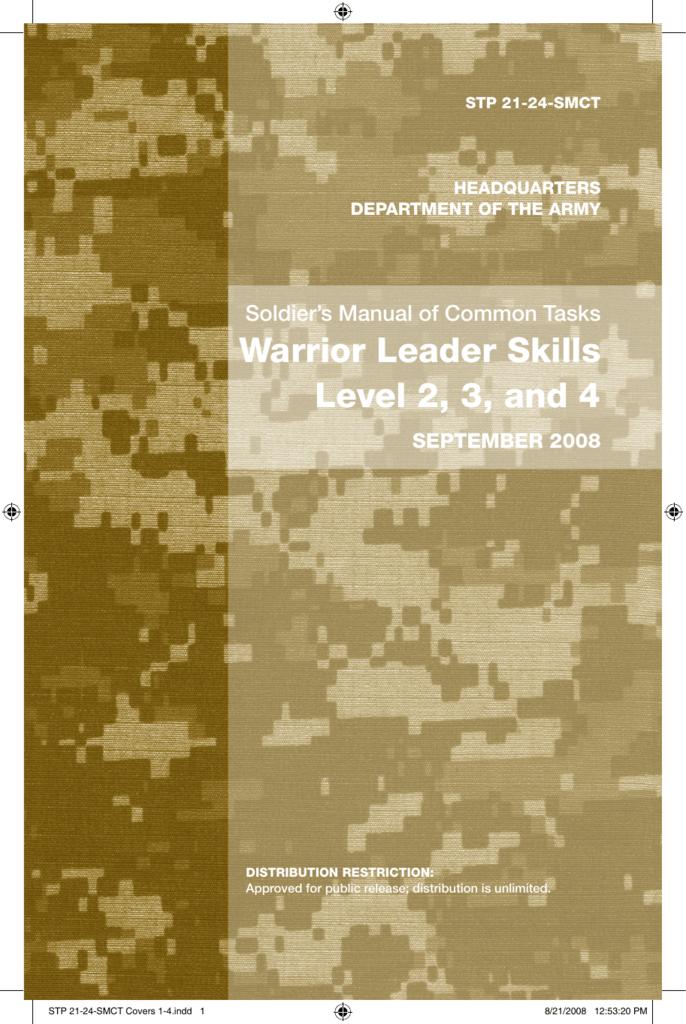 STP 21 24 SMCT Warrior Leader Skills Level 2 3 And 4