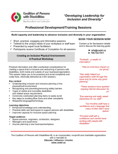 """Developing Leadership for Inclusion and Diversity"" Professional"
