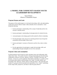 a model for community-based youth leadership development