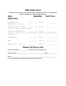 IEEE Order Form Item Quantity Unit Price Total Price Please Fill Out