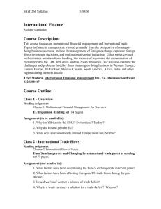 MGT 266 – International Finance - UC Davis Graduate School of