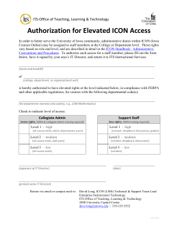 Authorization for Elevated ICON Access