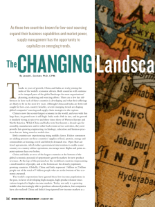 The Changing Landscapes of China and India, by Joseph L
