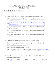 AP Calculus Chapter 4 Testbank (Mr  Surowski)