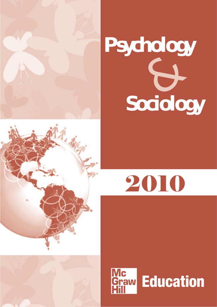 Sociology psychology mcgraw fandeluxe Gallery