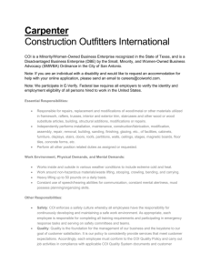 Carpenter Construction Outfitters International