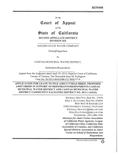 Amicus Brief - California Special Districts Association
