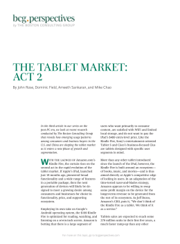 The Tablet Market: Act 2