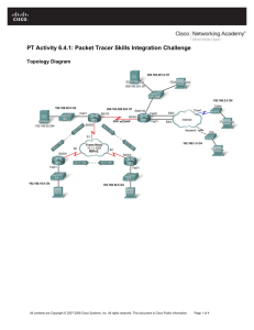 PT Activity 6.4.1: Packet Tracer Skills Integration Challenge