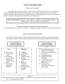 Team Leadership Model - Heather Nydam