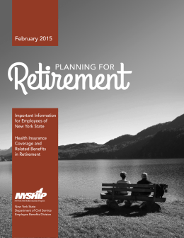 Planning for Retirement - State University of New York