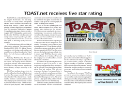 TOAST.net receives five star rating