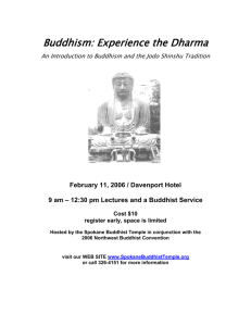 Buddhism: Experience the Dharma