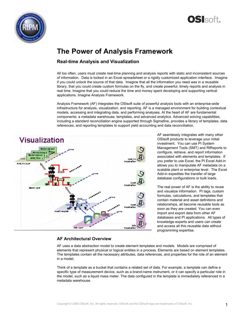 The Power of Analysis Framework