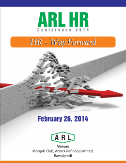 HR conference 2014 - Attock Refinery Limited