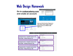 Web Design Homework