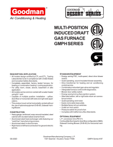 multi-position induced draft gas furnace gmph series