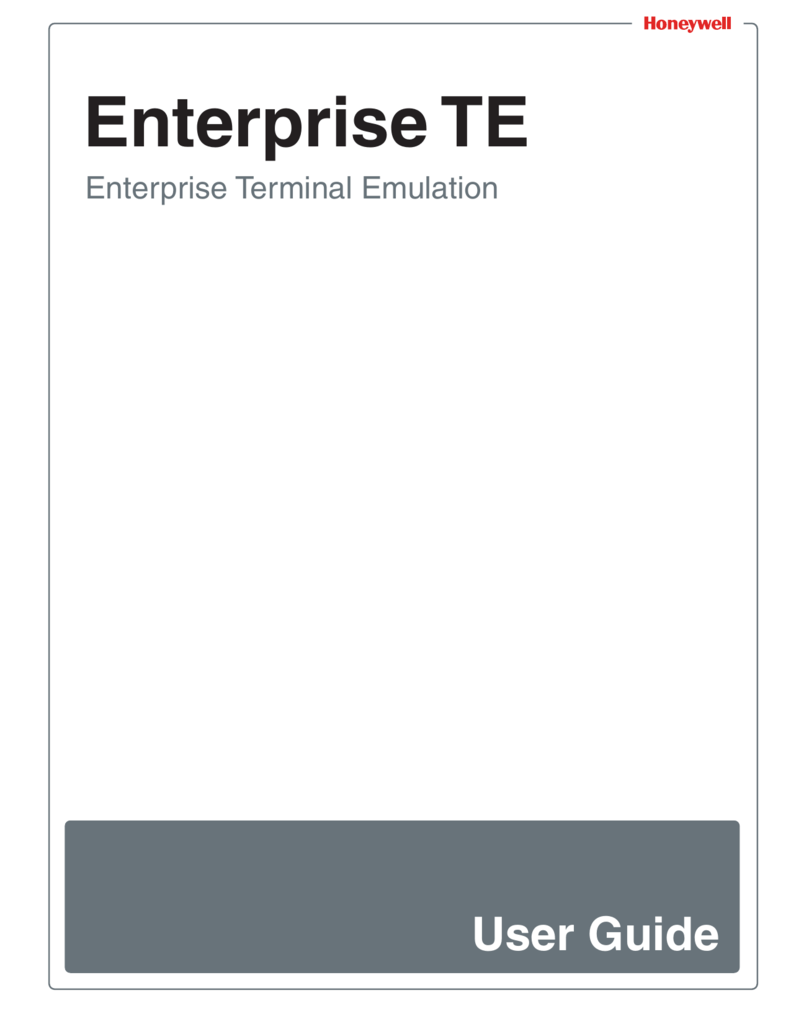 Enterprise Terminal Emulation (TE) User Guide