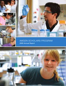 View the PDF - Amgen Scholars Annual Report