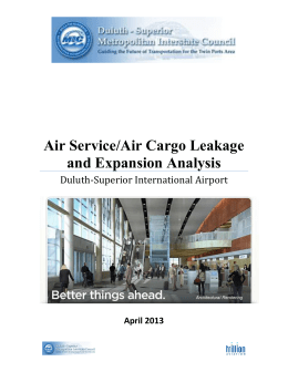 DLH Air Service/Air Cargo Leakage and Expansion Analysis