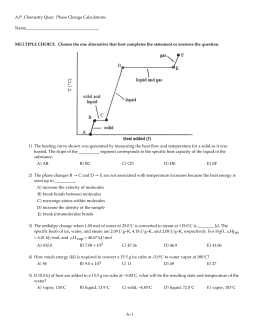 Chemistry Unit 8 Worksheet 3: Adjusting to Reality