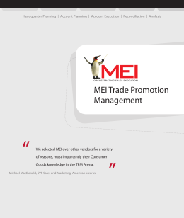 MEI Trade Promotion Management