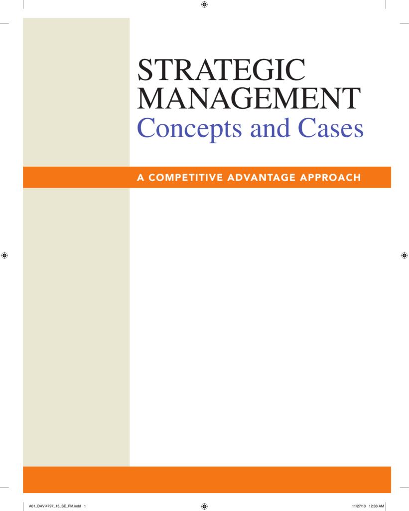 strategic management chapter 1 case Part 1: strategic management inputs chapter 2the external environment: opening case strategic management- chapter two.