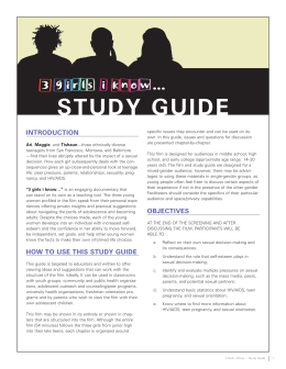 study guide - 3 Girls I Know