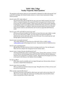 FAQs for faculty - Diablo Valley College