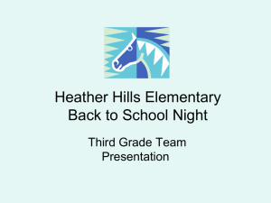Heather Hills Elementary Back to School Night
