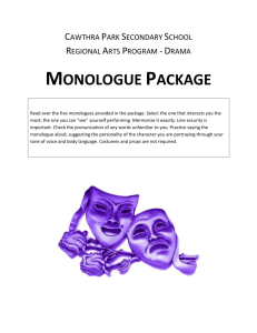 MONOLOGUE PACKAGE