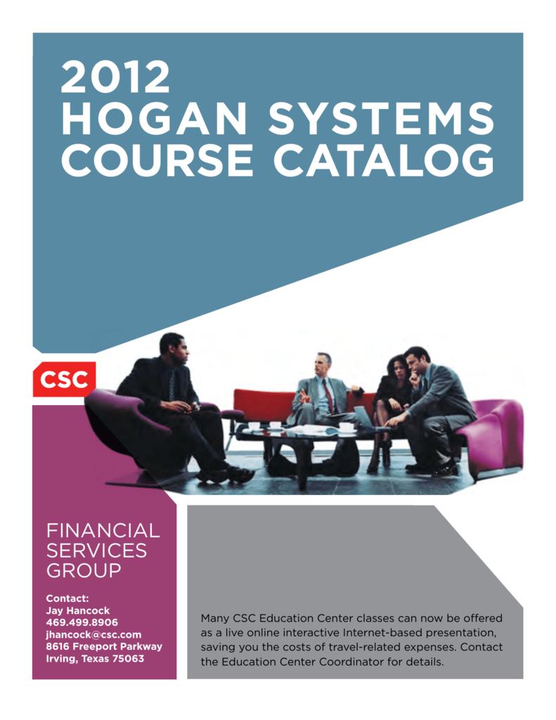 2012 Hogan Systems Course Catalog